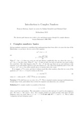 complex numbers lecture