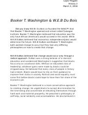 History 2 Essay: Booker T. and W.E Du Bois.docx