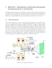 PHYS 3050 Lab 1 Introduction to Electronic Instruments