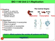 2014 Unit 2-1 Replication