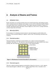 02 - Analysis of Beams and Frames