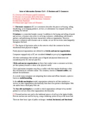 Introduction to Information Systems Ch. 6 Notes