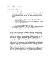 Critical Legal Skills Reading Notes