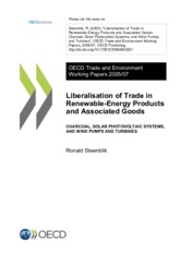Liberalisation of Trade in Renewable-Energy Products and Associated Goods OECD 2005