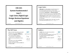 CSE220 Unit07 Logic Gates and Digital Logic Design - Boolean Equations.pdf