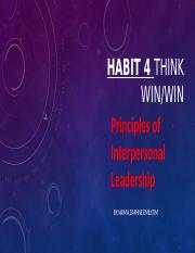HABIT 4 Think Win