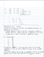 Sample Proportion Notes
