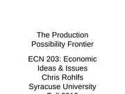 ECN 203 class 02 production possibility frontier