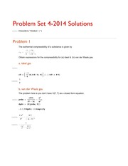 ProblemSet 4 solutions