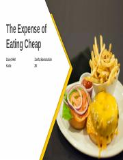 The Expense of Eating Healthy