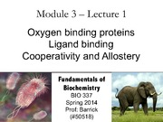 Module-3, Lecture-1 Oxygen Binding Proteins
