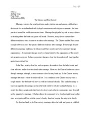 Anthropology Final Paper John La