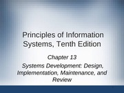Principles of Information Systems chapter 13
