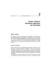 Number Notations, arithmetical Operations and Calculators