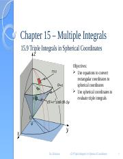 15.9 Triple Integrals in Spherical Coordinates.pptx