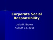 Corporate Social Responsibility 081315