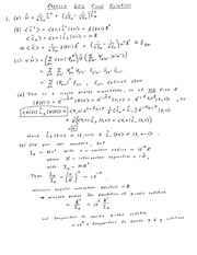 Final Exam Solution Fall 2014 on Quantum Mechanics