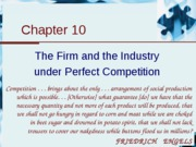 Chapter 10 - The Firm and the industry under perfect competition