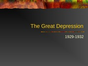 The Great Depression New
