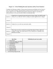 Chapter 14 -Worksheet