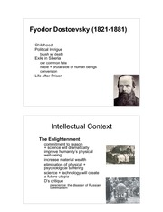 PHL 605 notes on Dostoevsky - The Grand Inquisitor