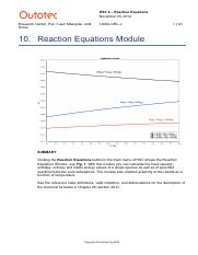 10 Reaction Equations