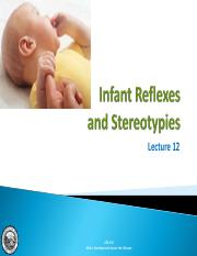 Lecture 13 - Infant Reflexes and Stereotypies.pdf