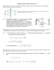 Chapter 23 Additional Example Problems