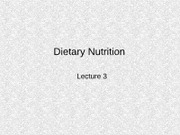 Dietary Nutrition L3