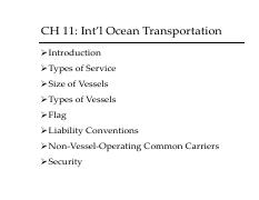 CH11_OceanTransportation