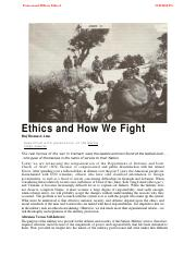 Week 2 Supp, Excerpt from Ethics and How We Fight.pdf
