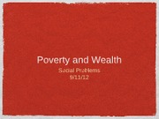 Poverty and Wealth 2012