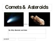 comets and asteroids_my part