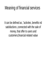 financial services.ppt