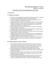 Chpt 23 Outline  From New Era to Great Depression, 1920.1932