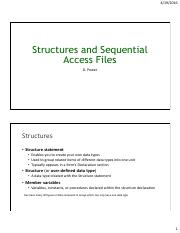 Ch10 Structures and Sequential Access Files