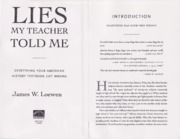 3. Lies My Teacher Told Me (Loewen)