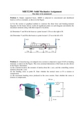 Solid Mechanics-Assignment-2013