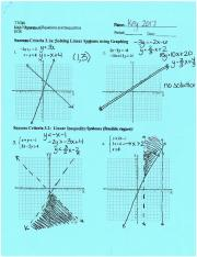System of equations and inequalities
