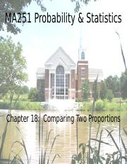 Chapter 18 - Comparing Two Proportions.ppt