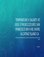 Temperature V Salinity at USGS 374938122251801 SAN FRANCISCO.pptx
