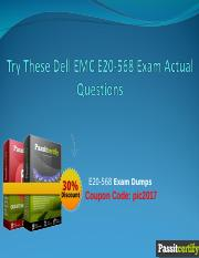 Try These Dell EMC E20-568 Exam Actual Questions.ppt