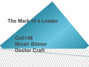 COLL148 Final_The Mark of a Leader