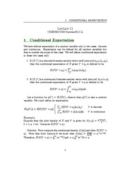 Lecture 11 - Variance, Conditional Expectation