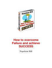 eBook - PDF - Napoleon Hill - How to Overcome Failure and Ac