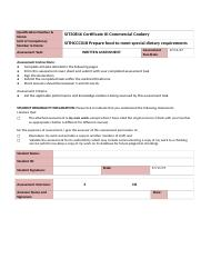 SITHCCC018 Written Assessment  V1.0.docx