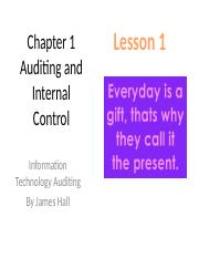 Chap01 Auditing and Internal Control – TTH Lesson 1.pptx