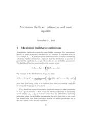 maximum_likelihood
