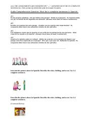 SPANISH HELP (FIVE ASSIGNMENTS)