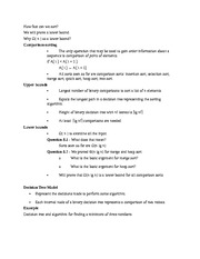 Lecture Notes on Bounds for sorting